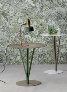 tavolini da caffè, color cognac e verde