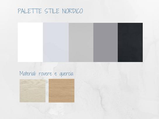 colori e materiali stile nordico