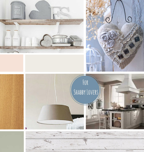 Cucina shabby chic mood board