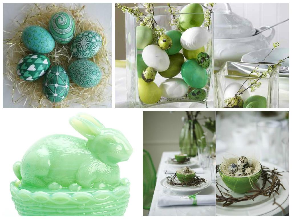 Pasqua decorazioni in verde