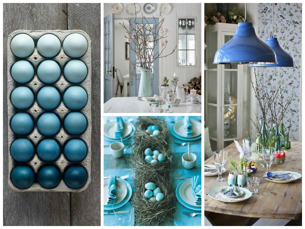 Pasqua decorazioni in blu