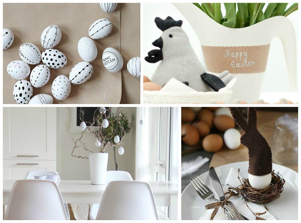 Pasqua decorazioni in bianco