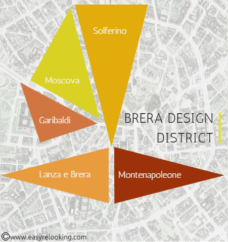 Brera Design District Mappa Fuorisalone 2015