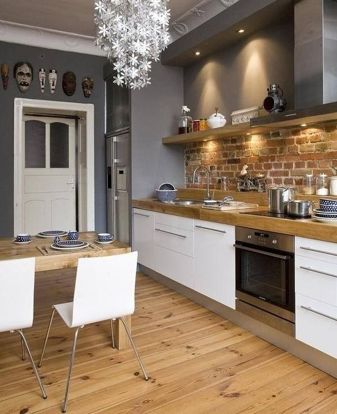Pin love 4 mensole di legno per una cucina senza pensili - Mensole cucina country ...