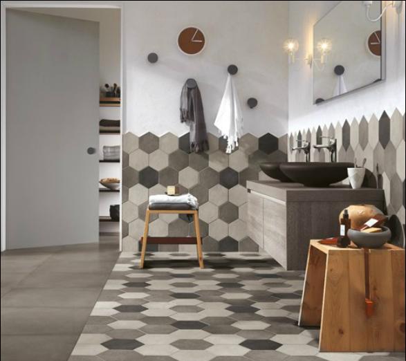 Le piastrelle esagonali la tendenza sposa la tradizione - Piastrelle esagonali bagno ...