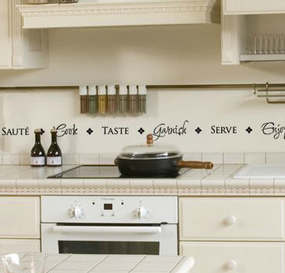 stickers murali con frasi per la cucina