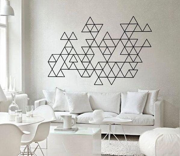 stickers murale geometrico per il soggiorno
