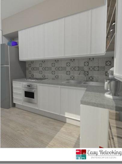 Come ti arredo 5 arredare la cucina e il soggiorno in stile shabby chic easyrelooking - Piastrelle cucina bianche ...