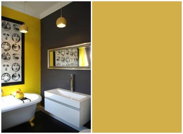 Farrow and ball come scegliere i colori della stanza a - Parete giallo ocra ...