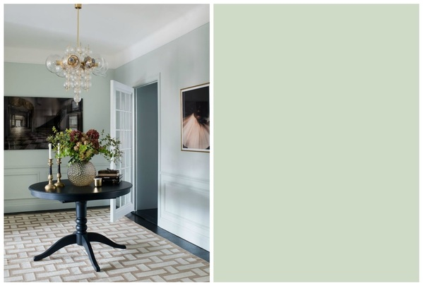 Soggiorno color Pale Powder Farrow and Ball