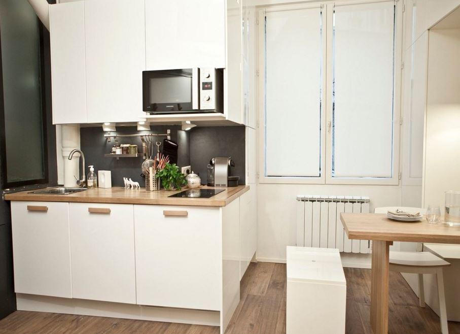 Storie di case come arredare un monolocale di 18mq - Aspira odori cucina ...