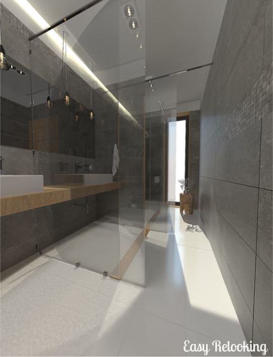 Molto ristrutturare bagno lungo e stretto oq93 pineglen - Ristrutturare un bagno ...