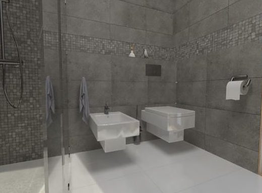 Idee Bagno Lungo E Stretto : Idee bagno con doccia walk in disegni per i