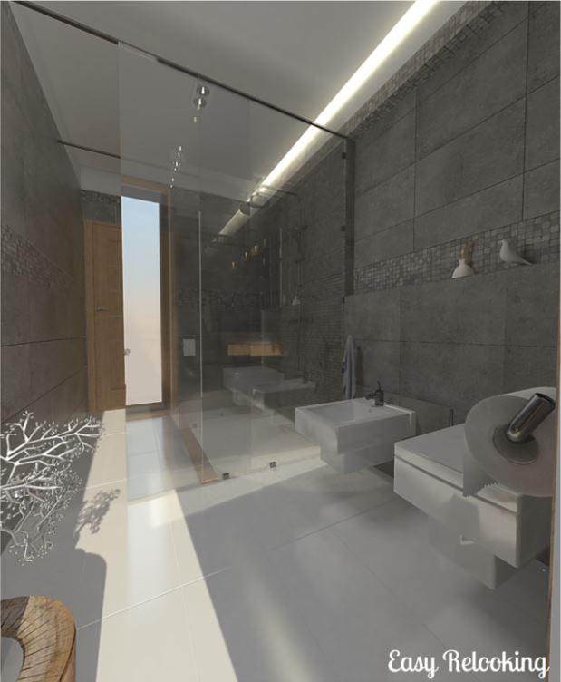 Ristrutturare un bagno lungo e stretto: la soluzione della doccia passante - easyrelooking