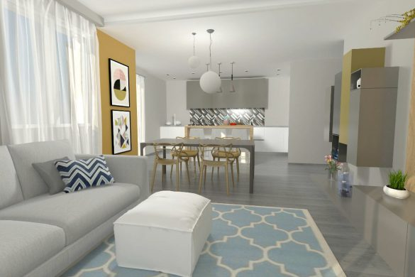 Cucina Salotto Ambiente Unico Idee ~ Idee per il design della casa