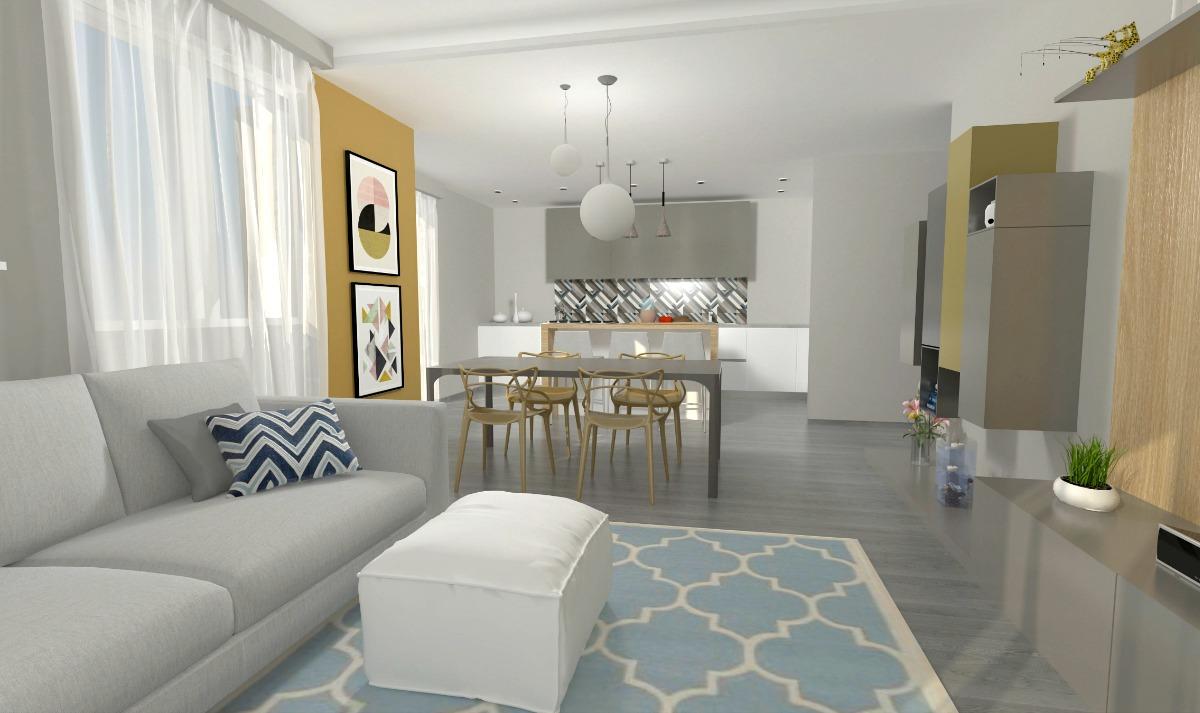 Come arredare un open space cucina e soggiorno la casa di for Cucina open space con pilastri