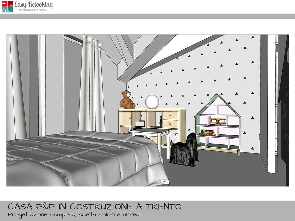 Progetto cameretta bambina stile nordico con cabina for Camera da letto in stile cabina
