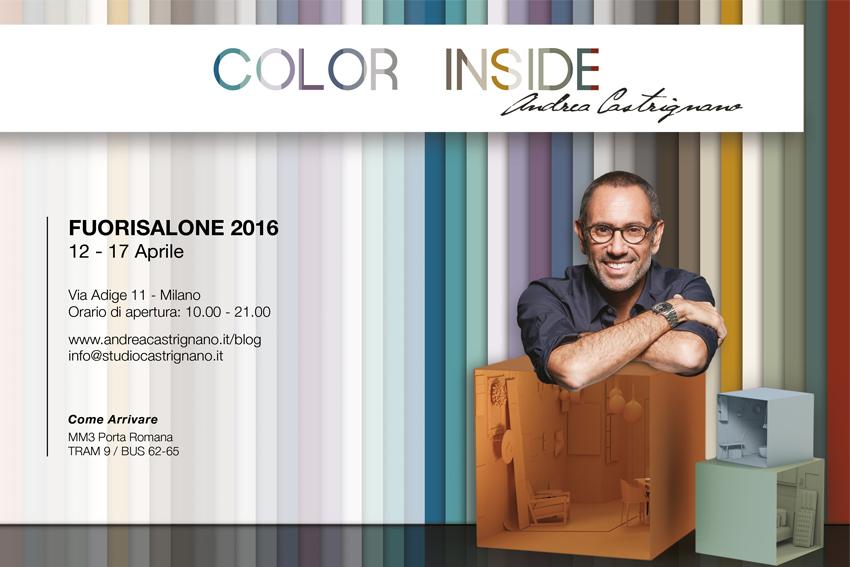 Evento Color Inside Andrea Castrignano Fuorisalone 2016