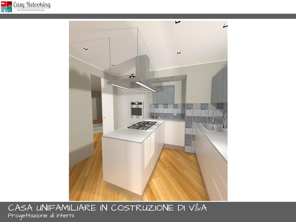Progettazione cucina separata da soggiorno
