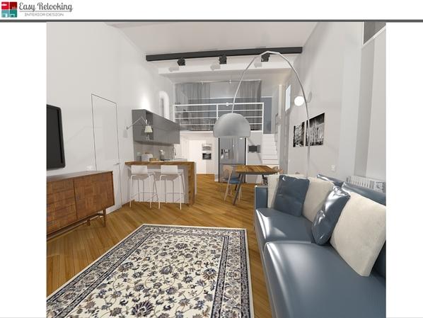 Progettazione di interni di un loft nel cuore di milano for Progettazioni interni