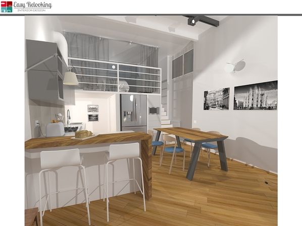 Progettazione di interni loft Milano