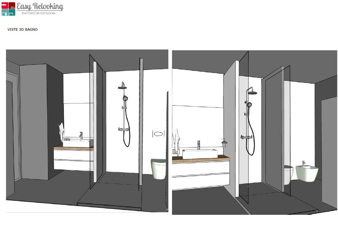 Progettazione di interni di un loft nel cuore di milano easyrelooking - Bagno con doccia ...