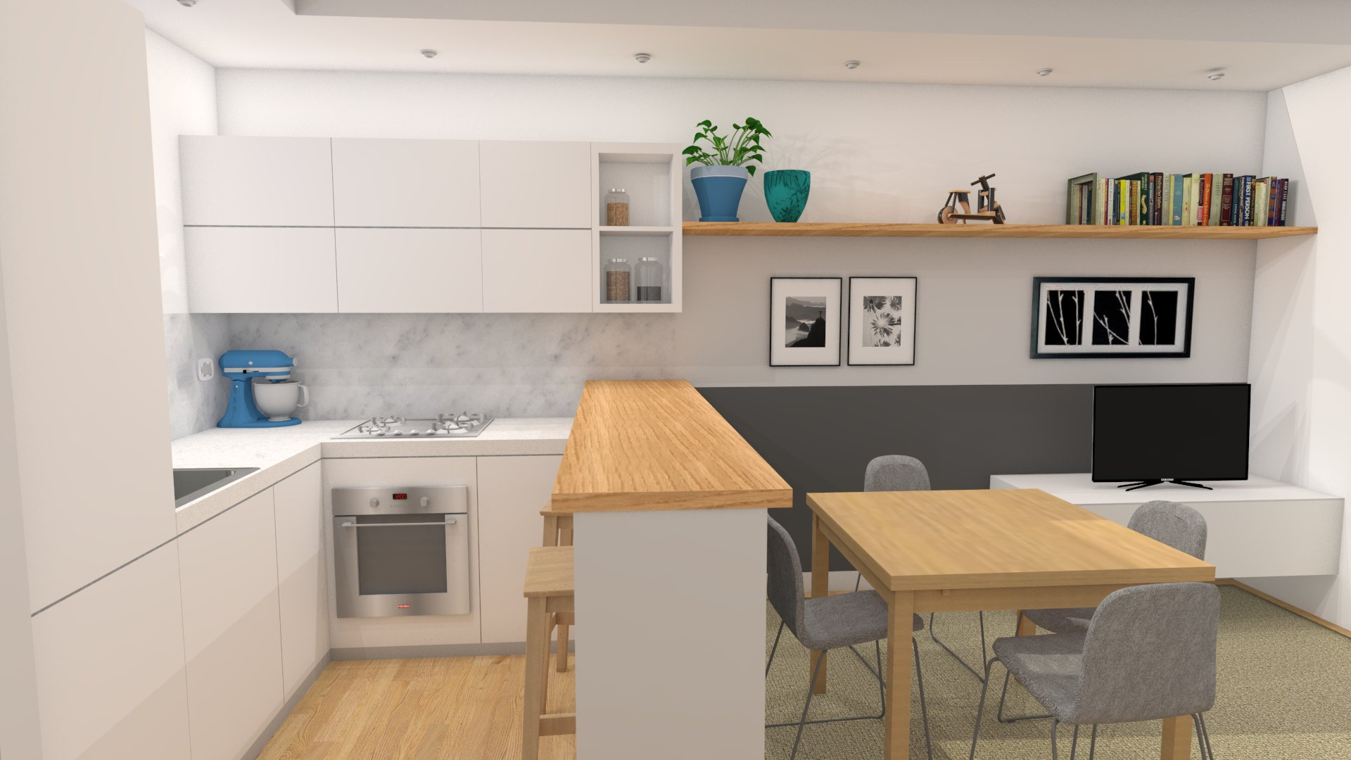 Un soggiorno di stile per un piccolo budget easyrelooking for Soggiorno con cucina a vista