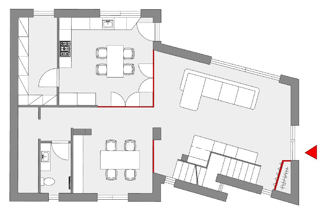 Unifamiliare su due piani progetto piano rialzato for Piani casa piano