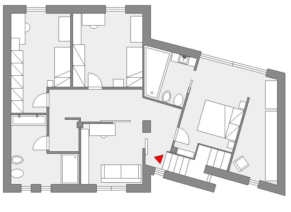 Favorito Unifamiliare su due piani: progetto primo piano - EasyRelooking RC19