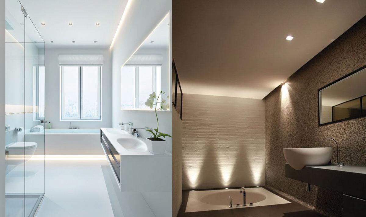 Illuminazione speciale per il bagno easyrelooking - Illuminazione bagno moderno ...