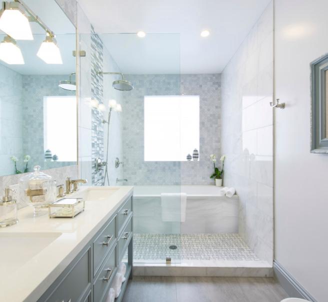 Bagno con doccia e vasca: il progetto - easyrelooking