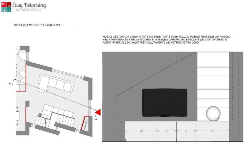 Unifamiliare su due piani progetto piano rialzato for Piani di piano di soggiorno