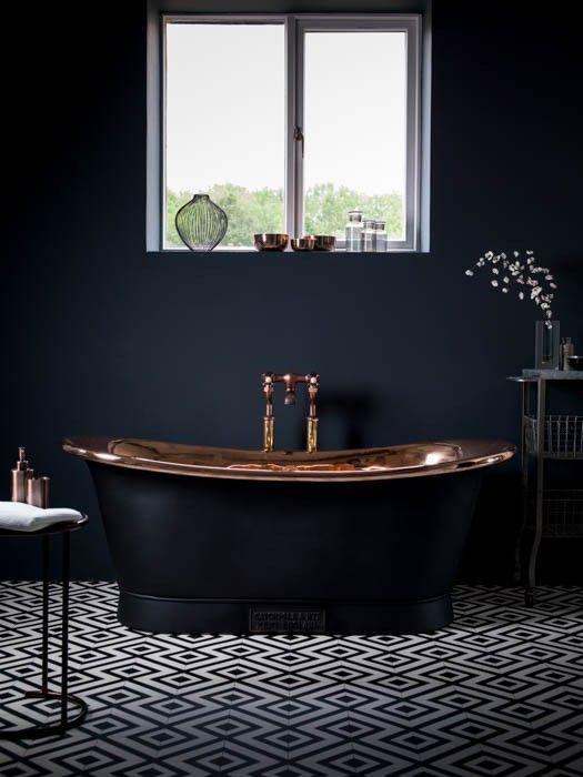 Idee blog arredamento - Vasca da bagno nera ...