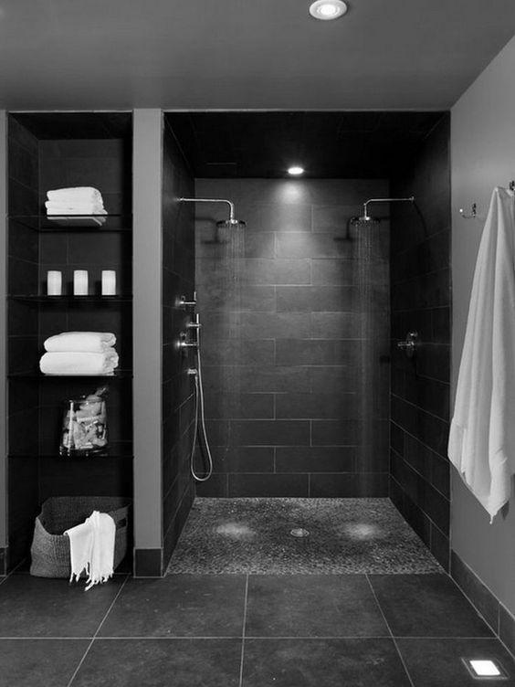 Ispirazioni e consigli per un bagno in nero - easyrelooking