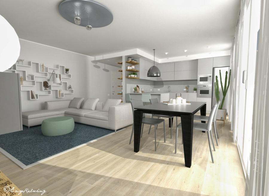 Attico con cucina aperta: il progetto di Laura e Paolo - easyrelooking