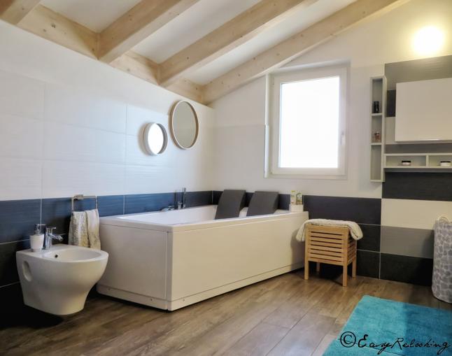 Progetto ingresso e bagni della villa a trento il risultato easyrelooking - Mettere piastrelle bagno ...