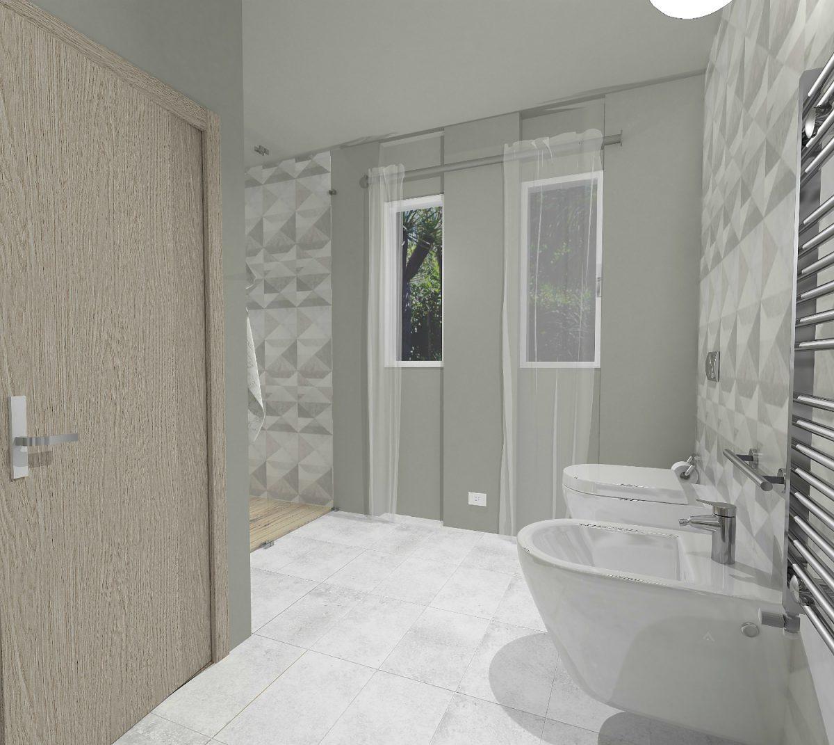 Bagno decorazione ideas for Moderni piani a due piani