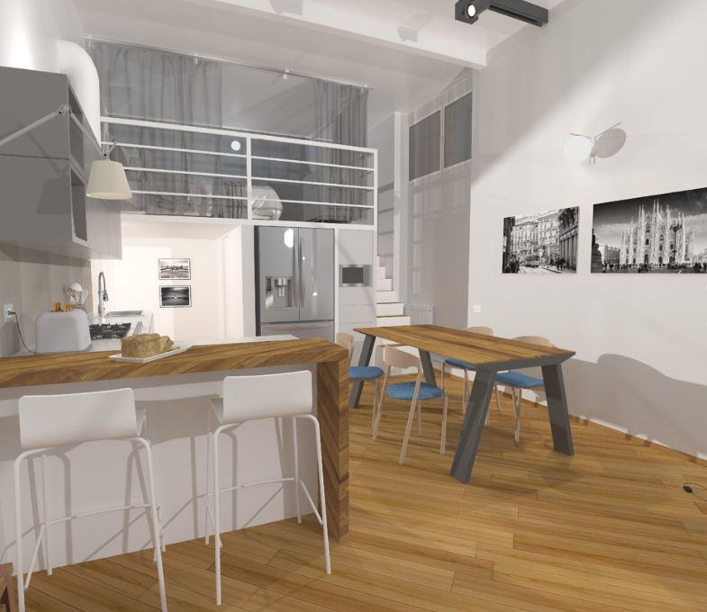 Loft nel cuore di milano easyrelooking for Progetto di casa loft