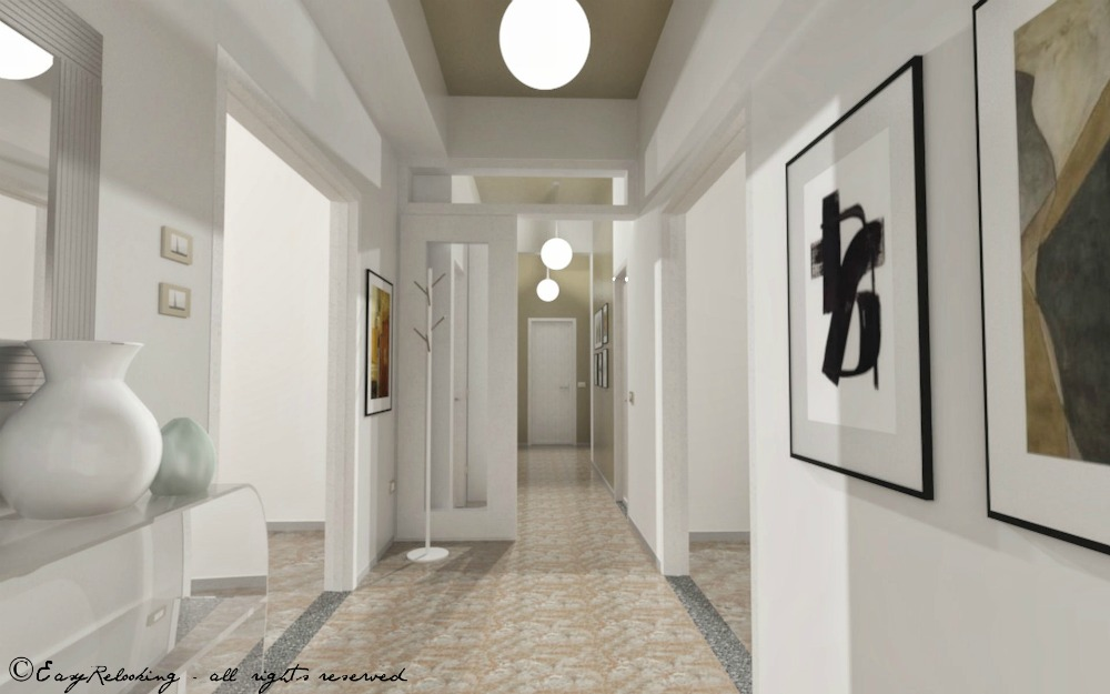 Corridoio lungo e stretto colore e accessori easyrelooking for Arredare con i colori