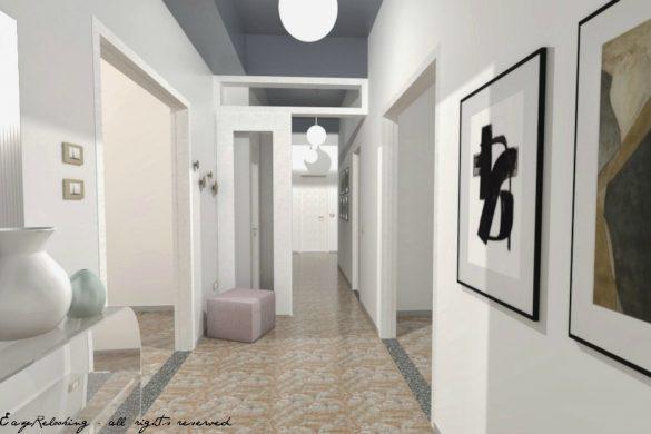 Corridoio lungo e stretto: colore e accessori - easyrelooking