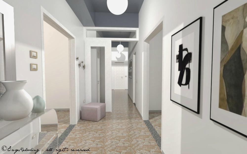 Soffitti Alti Soluzioni : Corridoio lungo e stretto: colore e accessori easyrelooking