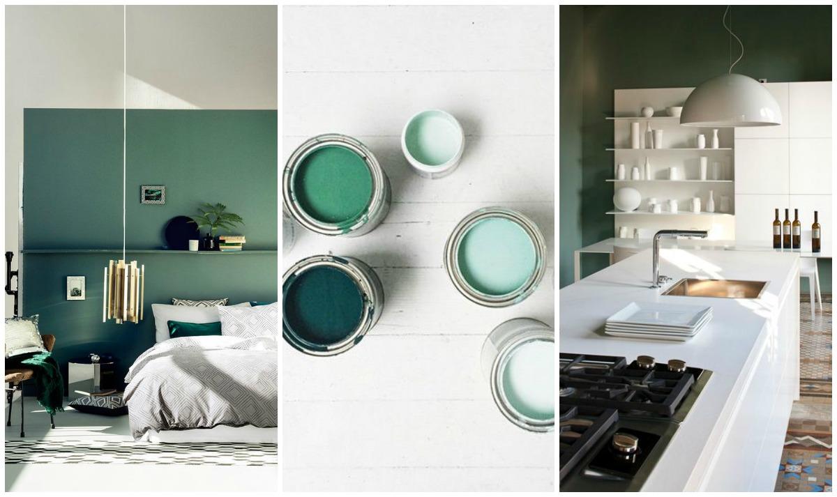 Verde per le pareti di casa: non passa di moda! e Pantone lo conferma