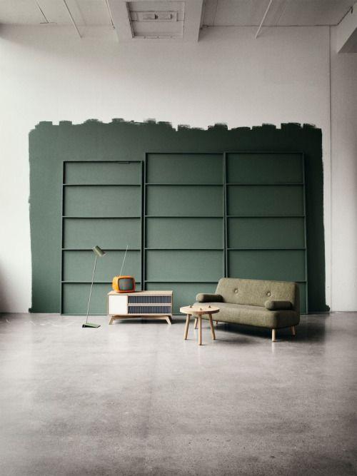 Verde per le pareti di casa non passa di moda e pantone lo conferma - Pareti verdi per interni ...