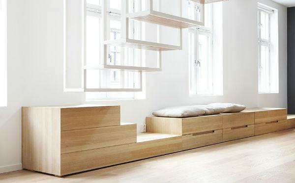 Norvegia arredamento casa nordica, sala, mobile legno