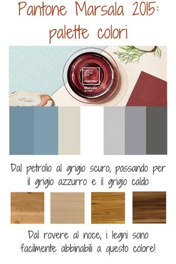 Pantone Marsala 2015 palette colori