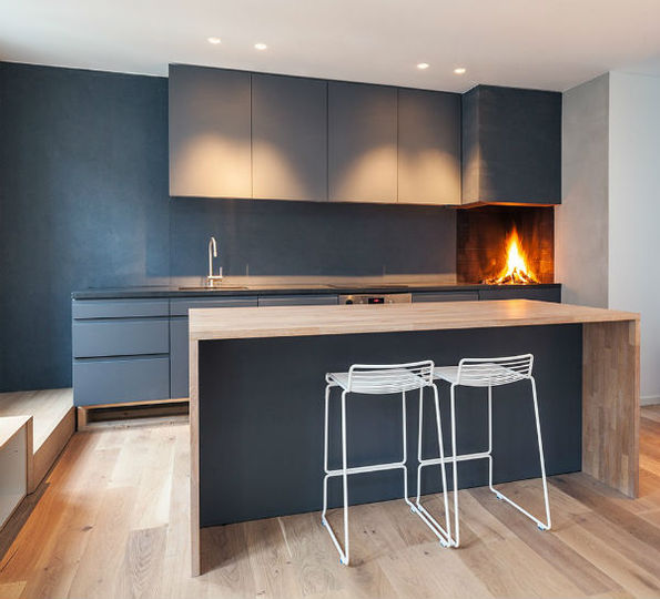cucina nero opaco, stile nordico