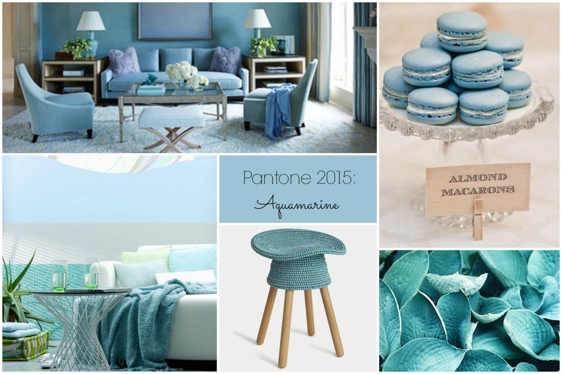 Colori primavera Pantone 2015 casa Aquamarine