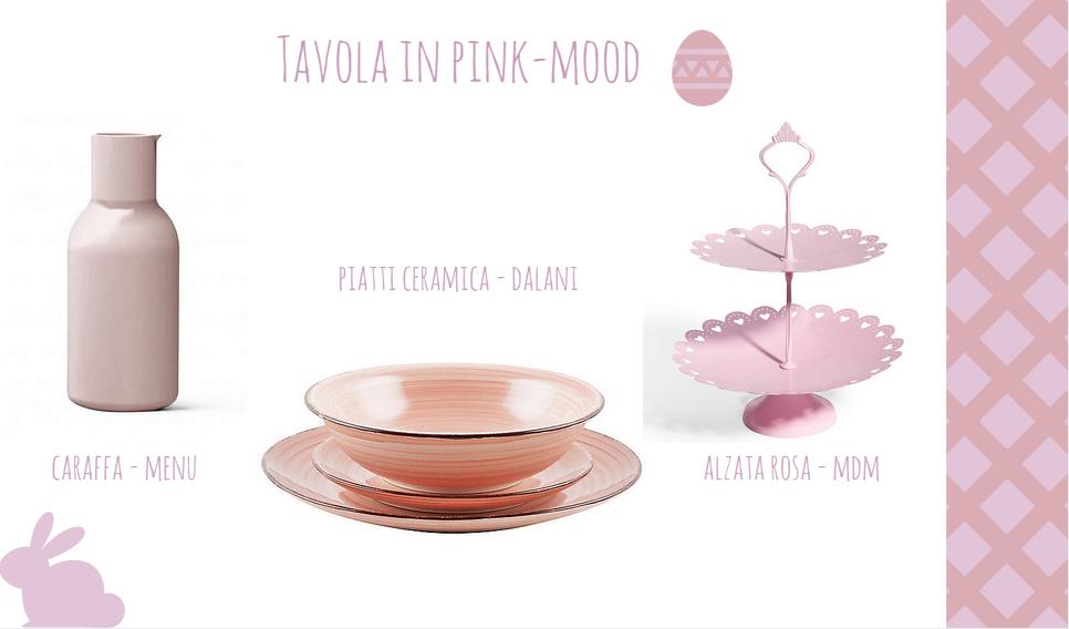 tavola di Pasqua decorazioni in rosa