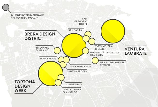 Fuorisalone 2015 mappa