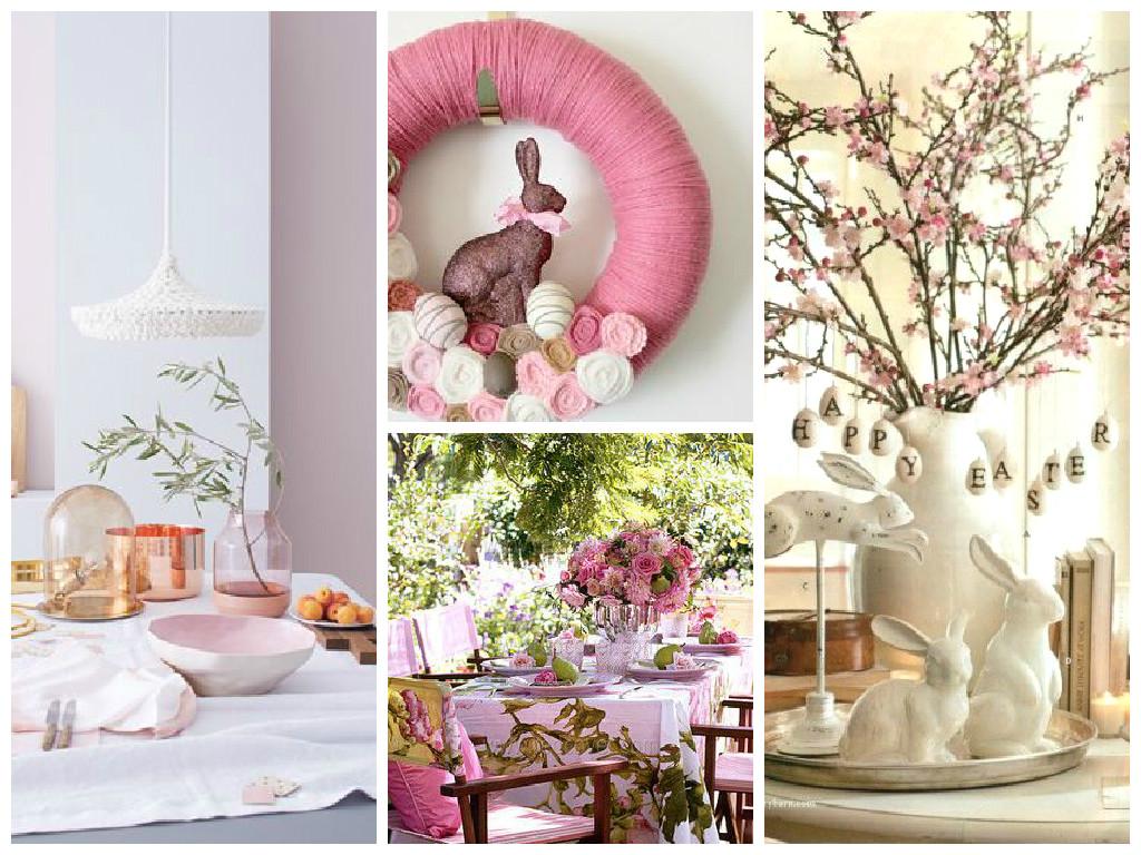 Pasqua decorazioni in rosa